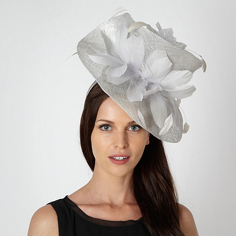 Star by Julien Macdonald - Designer silver twist feather hair piece