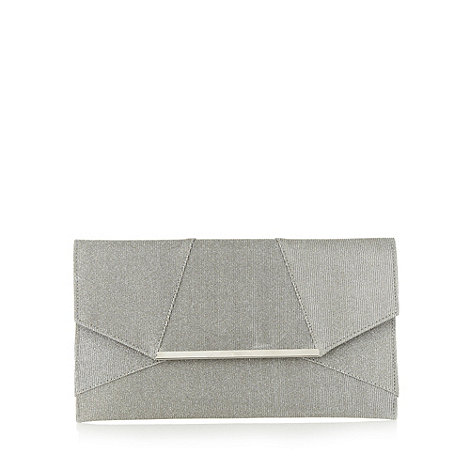 Star by Julien Macdonald - Designer silver glitter clutch bag