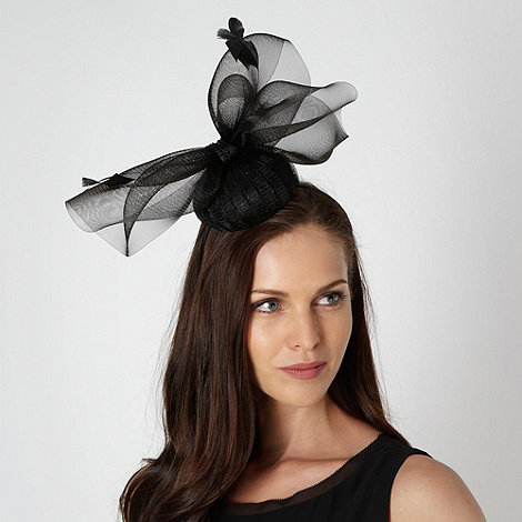 Principles by Ben de Lisi - Designer black pleated button top fascinator