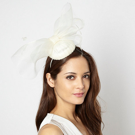 Principles by Ben de Lisi - Designer cream pleated bow hairpiece