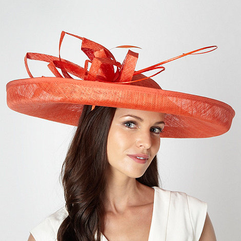 Principles by Ben de Lisi - Designer orange folded mesh corsage fascinator