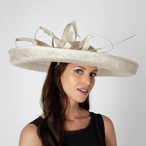 Principles by Ben de Lisi - Designer cream folded mesh corsage fascinator