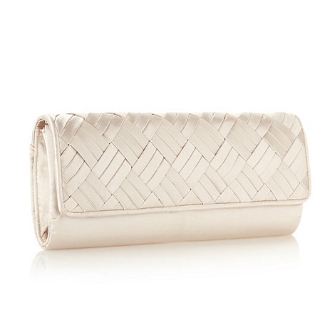 Principles by Ben de Lisi - Designer light gold weave clutch bag