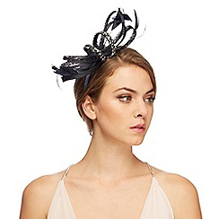 No. 1 Jenny Packham - Navy encrusted headband fascinator