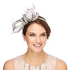 No. 1 Jenny Packham - Grey encrusted headband fascinator