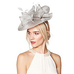 No. 1 Jenny Packham - Grey stone detail saucer fascinator
