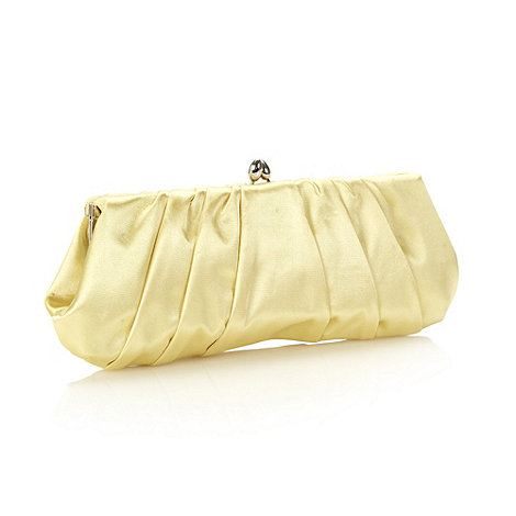 Principles by Ben de Lisi - Designer yellow pointed clasp clutch bag