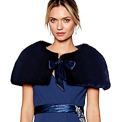No. 1 Jenny Packham - Navy faux fur cape
