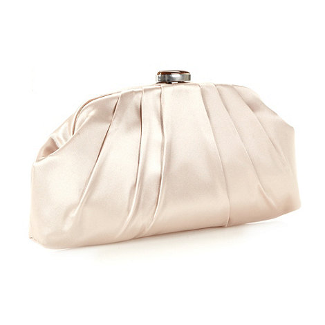 Principles by Ben de Lisi - Designer cream pleated satin clutch bag