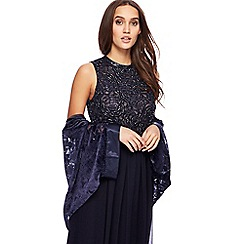 No. 1 Jenny Packham - Navy velour shrug