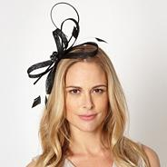 Designer black jewelled bow headband