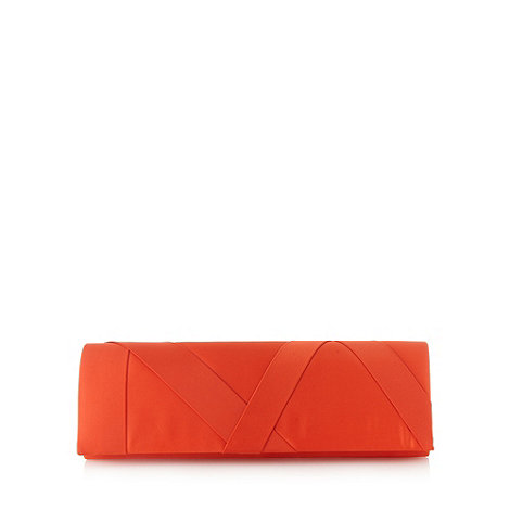 Principles by Ben de Lisi - Designer orange satin clutch bag
