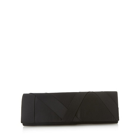 Principles by Ben de Lisi - Designer black satin clutch bag
