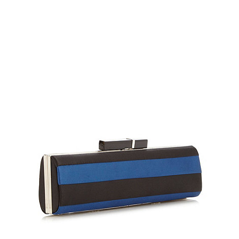 Principles by Ben de Lisi - Designer black satin oblong clutch bag