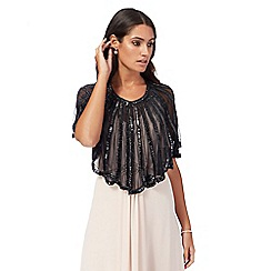 No. 1 Jenny Packham - Black bead embellished scalloped shrug