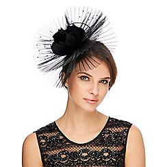 No. 1 Jenny Packham - Black 'Lily' pleated fascinator