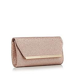 No. 1 Jenny Packham - Peach glitter clutch bag