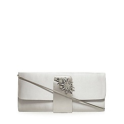 No. 1 Jenny Packham - Grey satin clutch bag