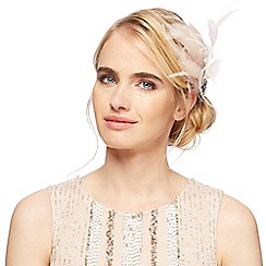 No. 1 Jenny Packham - Pink small feather clip fascinator