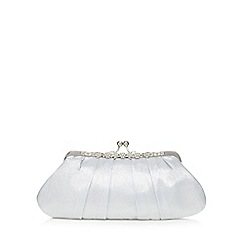 No. 1 Jenny Packham - Silver satin clutch bag