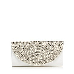 No. 1 Jenny Packham - Ivory beaded half moon clutch bag
