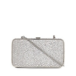 No. 1 Jenny Packham - Silver 'Cinderella' jewel embellished clutch bag