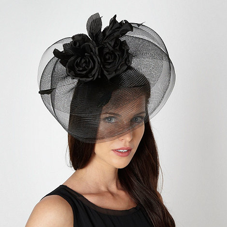 Debut - Black multi rose corsage fascinator
