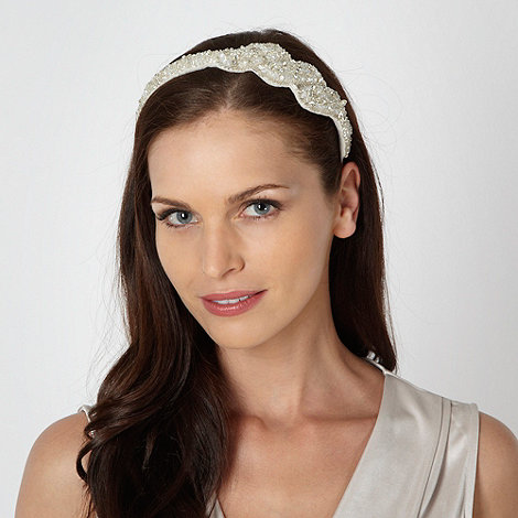 No. 1 Jenny Packham - Designer cream vintage style twist headband