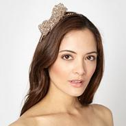 Designer natural beaded petal headband