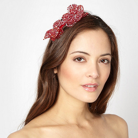 No. 1 Jenny Packham - Designer red beaded petal head band