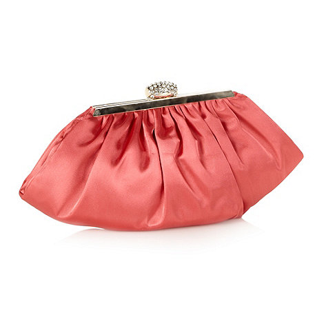 No. 1 Jenny Packham - Designer dark peach diamante frame clutch bag
