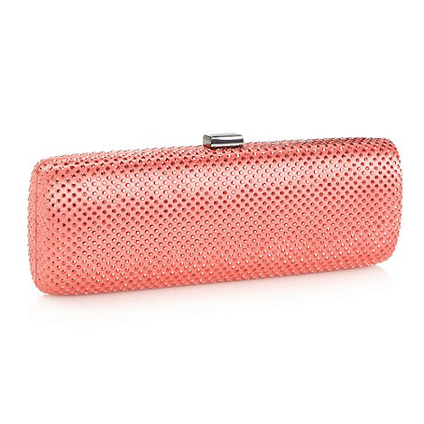 No. 1 Jenny Packham - Designer dark peach rhinestone clutch bag