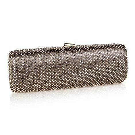 No. 1 Jenny Packham - Designer taupe rhinestone clutch bag