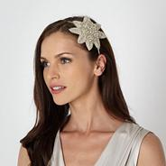 Designer ivory beaded petal headband