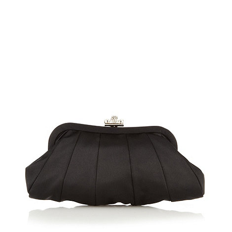 No. 1 Jenny Packham - Black satin clutch bag