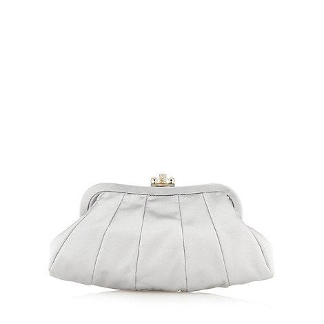 No. 1 Jenny Packham - Silver satin clutch bag