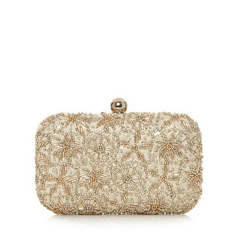 No. 1 Jenny Packham - Designer gold embellished clutch bag