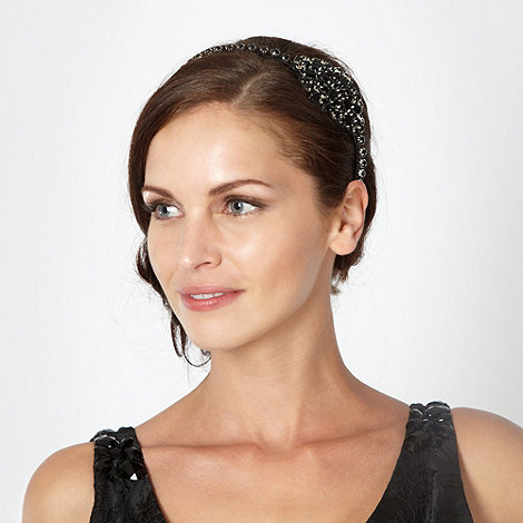 No. 1 Jenny Packham - Designer black diamante hair band