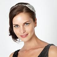 Designer silver diamante hair band