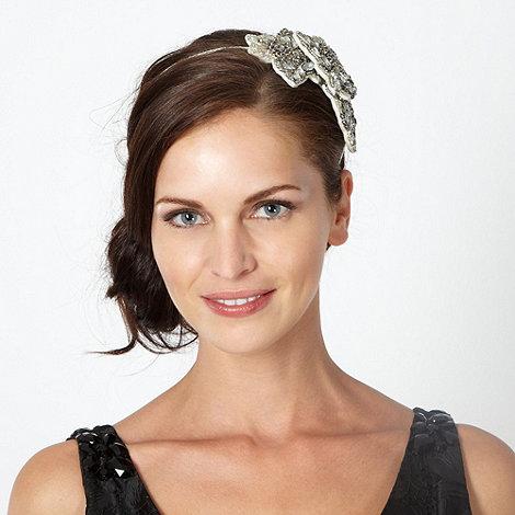 No. 1 Jenny Packham - Designer silver embellished flower headband