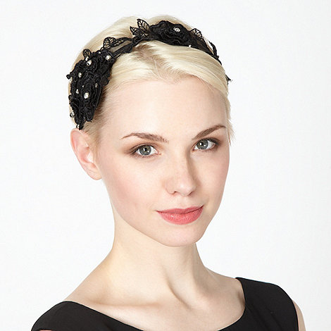 No. 1 Jenny Packham - Designer black lace flower headband