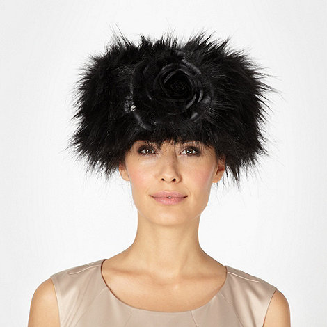 Top Hat by Stephen Jones - Designer black wool blend cossack hat