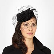 Designer black velvet fascinator