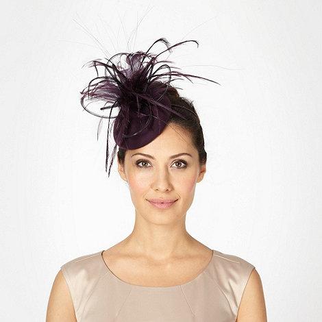 Top Hat by Stephen Jones - Designer dark purple tubular feather head band