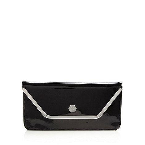 Top Hat by Stephen Jones - Designer black patent clutch bag