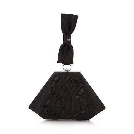 Top Hat by Stephen Jones - Designer black bow triangle evening bag