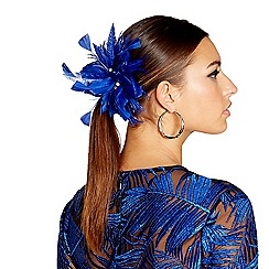 Star by Julien Macdonald - Blue tropical feather hair clip