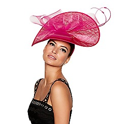 Star by Julien Macdonald - Bright pink 'Talulah' wave fascinator