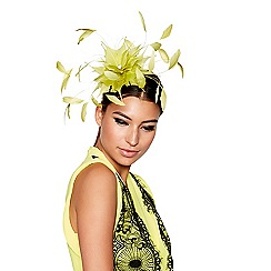 Star by Julien Macdonald - Yellow feather fascinator