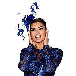 Star by Julien Macdonald - Blue feather fascinator